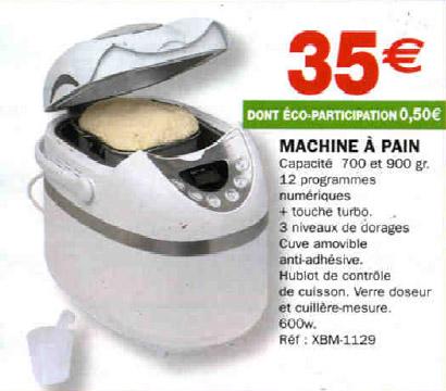 machine pain 35 euros hyper u. Black Bedroom Furniture Sets. Home Design Ideas