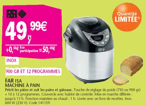 machine pain far moins de 50 euros chez conforama. Black Bedroom Furniture Sets. Home Design Ideas