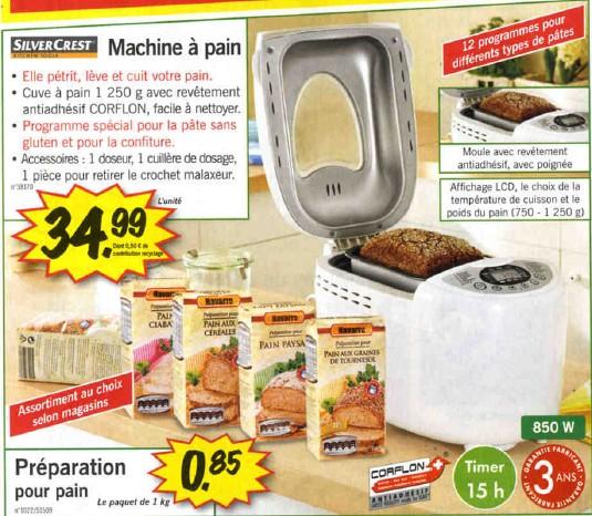machine pain silvercrest chez lidl moins de 35 euros. Black Bedroom Furniture Sets. Home Design Ideas